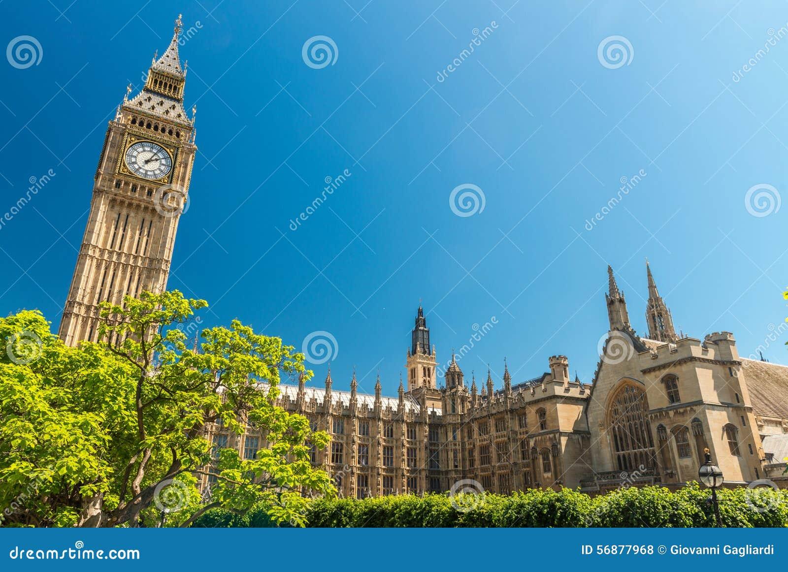 Londres, R-U Chambres du Parlement un beau jour d été