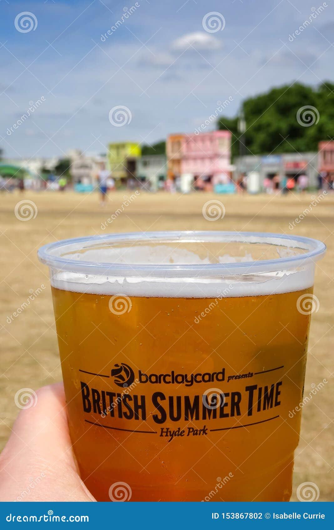 Londres, Reino Unido festival britânico do BST das horas de verão do 8 de julho de 2015