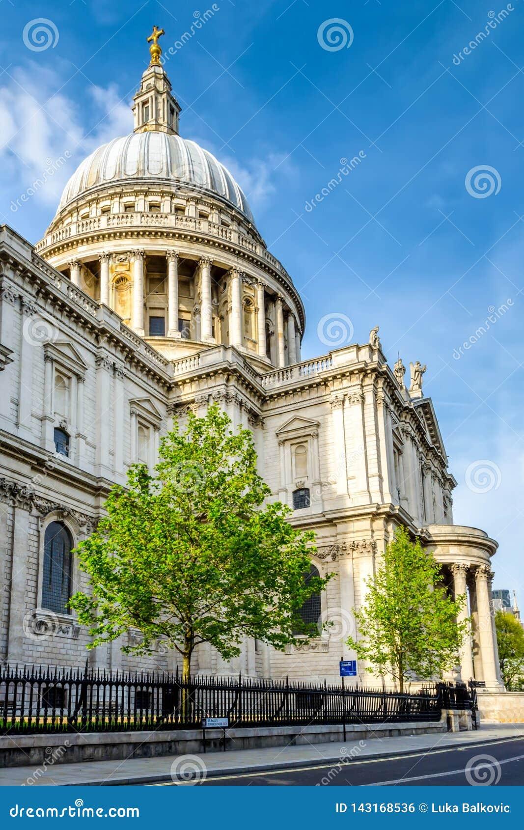 Londyński miasto, Anglia/: St Paul katedra