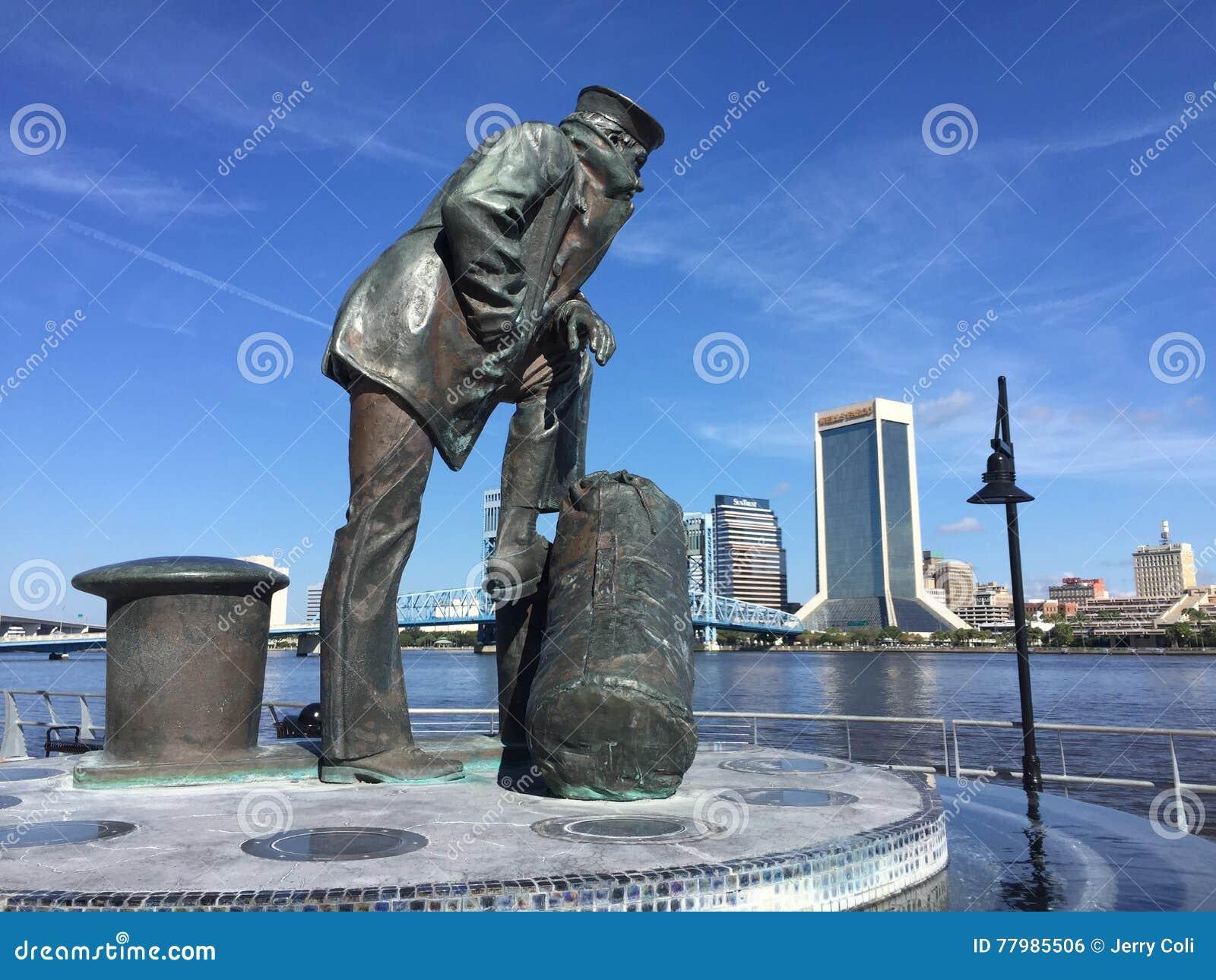 Lone Sailor Statue, Jacksonville, FL.