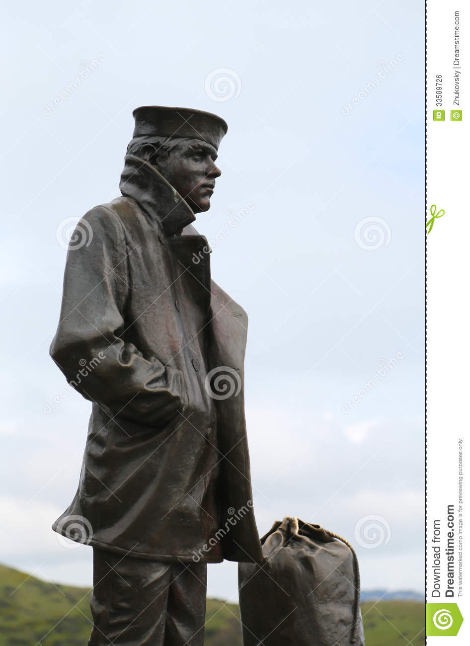 The Lone Sailor Statue In San Francisco Royalty Free Stock