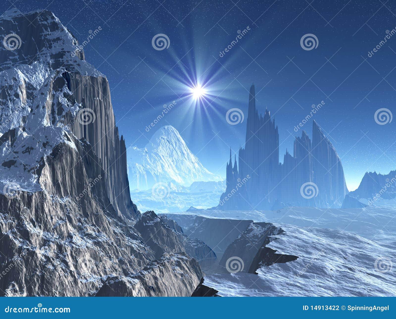 Lone Star Over Alien Winter World