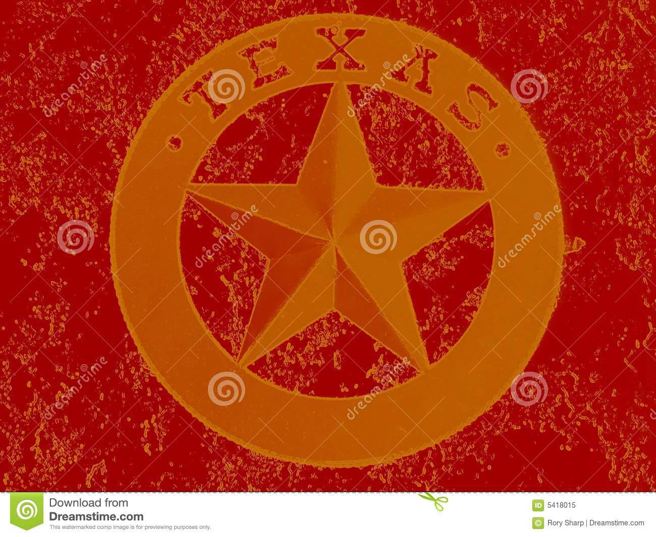 Lone Star State Stock Image Image Of Pentagram Abstract 5418015