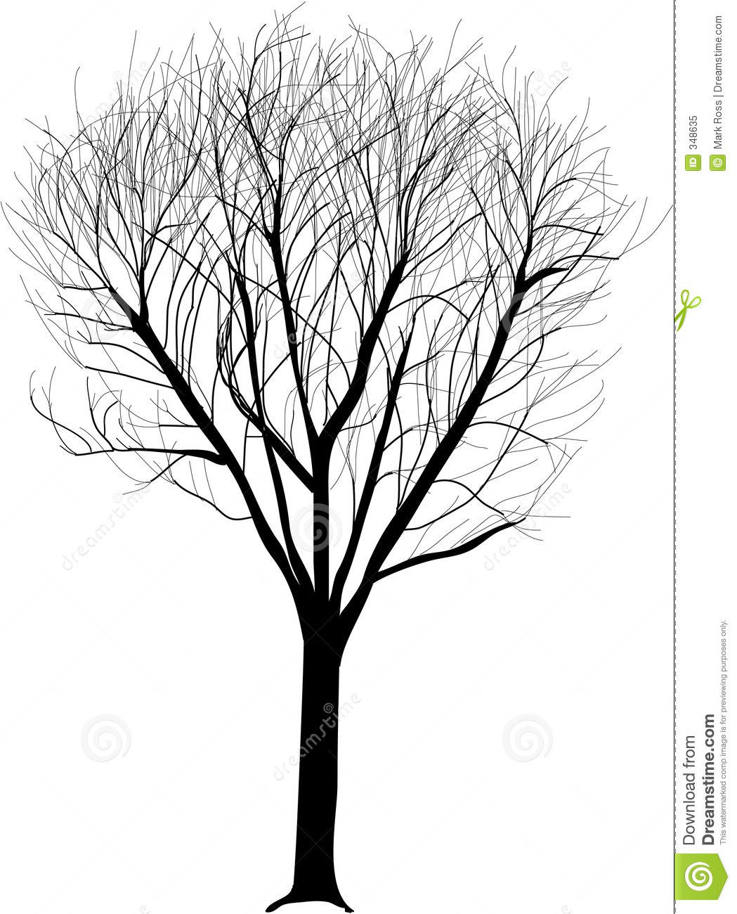 Lone Tree Illustration Royalty Free Stock Photo - Image: 348635