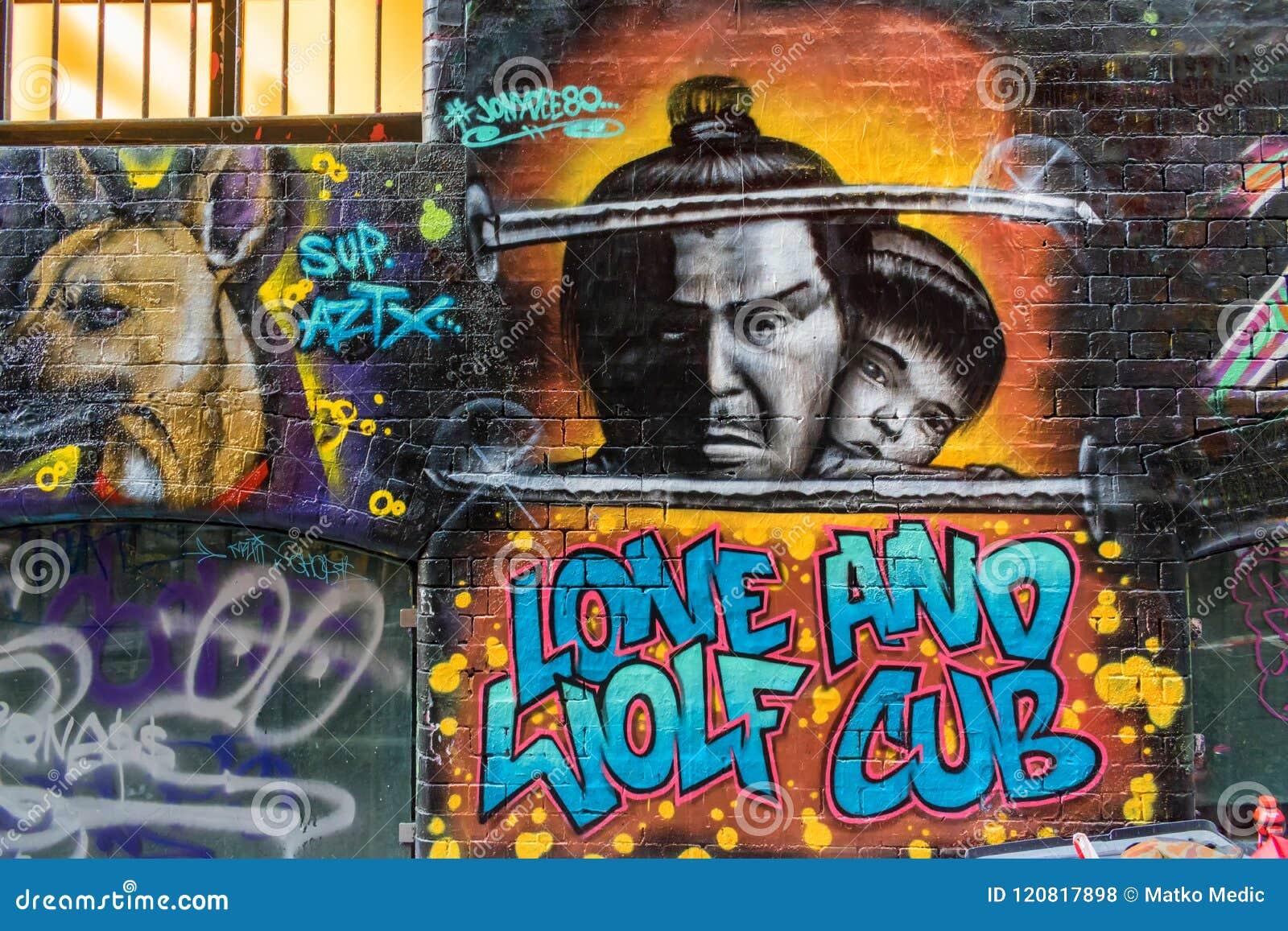 Lone wolf and cub graffiti