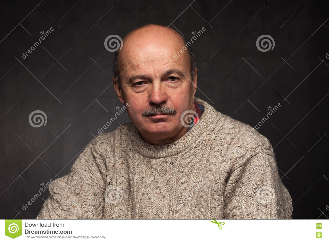 Loneliness And Depression In Elderly. Stock Photo - Image ...