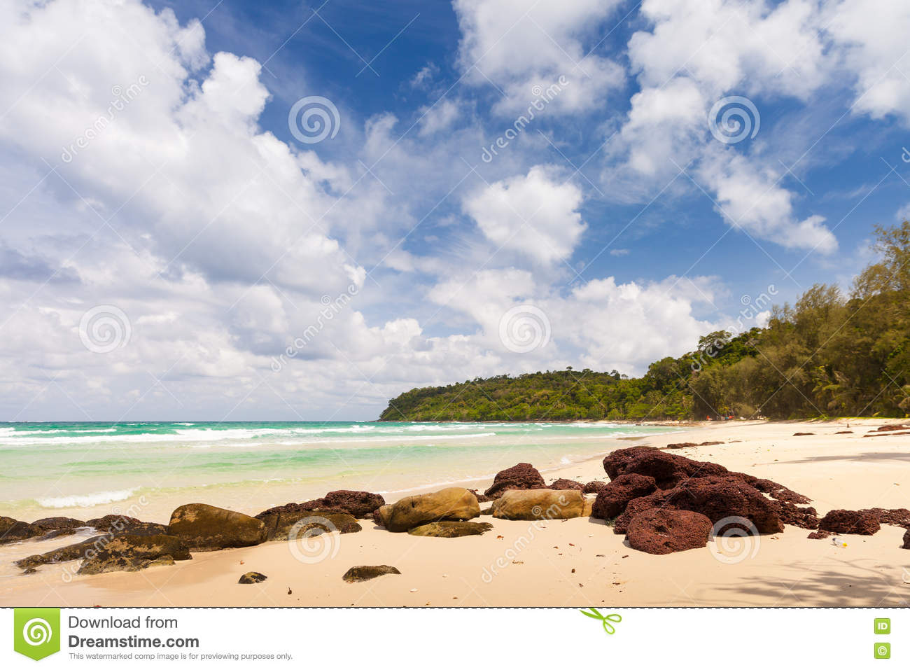 Lonely abandoned tropical beach