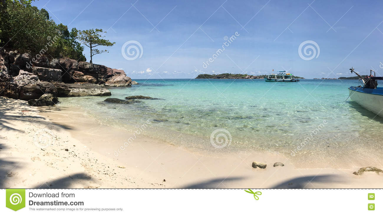 Lonely Beach On The Island Of Phu Quoc Vietnam Asia