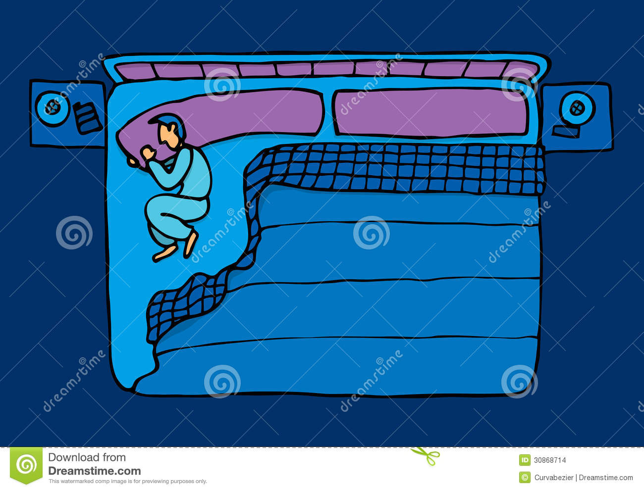 Bed canopy with fairy lights bangdodo - Lonely Blue Guy Sleeping Stock Images Image 30868714