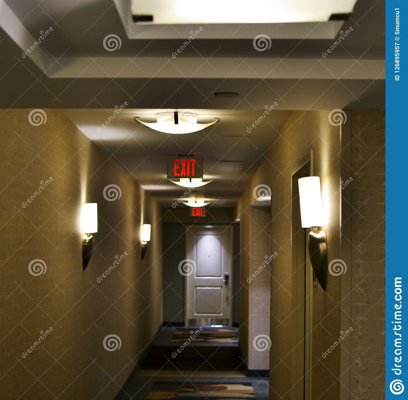 Lonely business men and empty corridors during business travel
