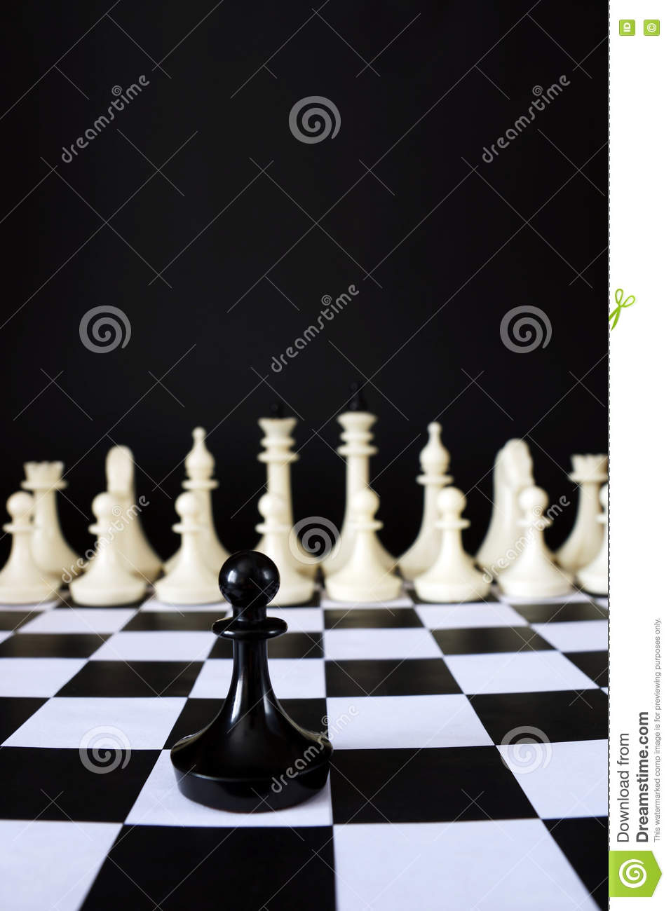 Download Lonely Chess Pawn In Front Of Enemy Team. Courage And Boldness Stock Image - Image of leisure, contra: 80204075