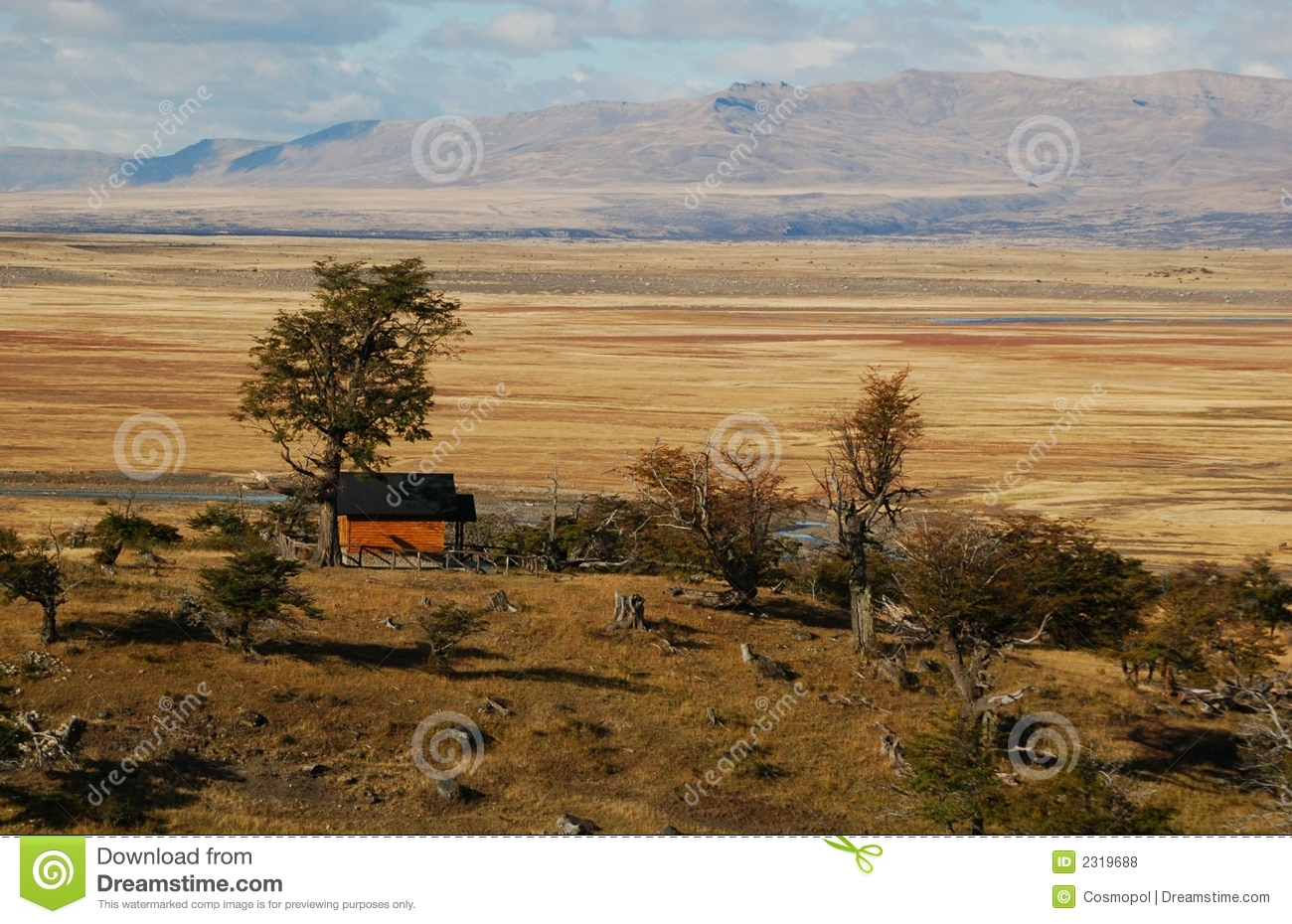 Lonely farmhouse in Patagonia