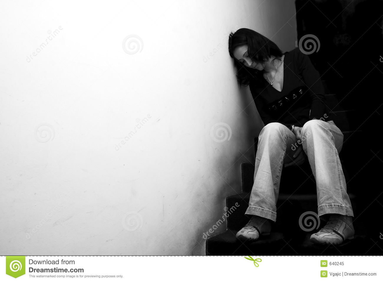 Lonely Girl Stock Image Image Of Contrast, Mental, Female - 640245-9029