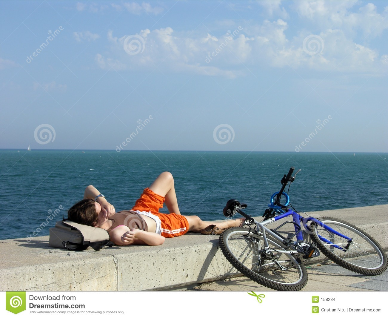 Lonely Girl Relaxing