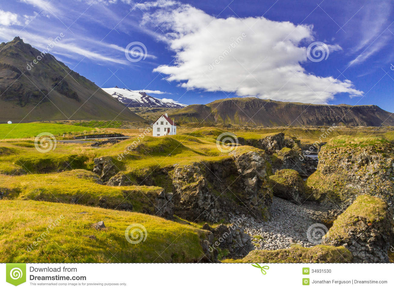 Lonely house stock photo image 34931530 for Iceland lonely house
