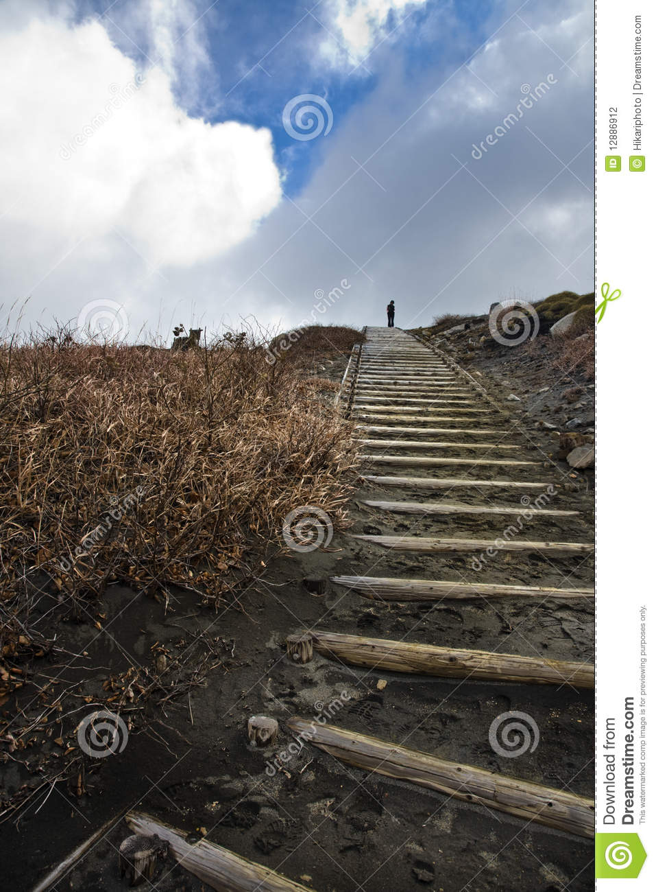 Lonely And Depressed >> Lonely Person On Top Of A Hill Stock Photo - Image of thoughtful, calm: 12886912