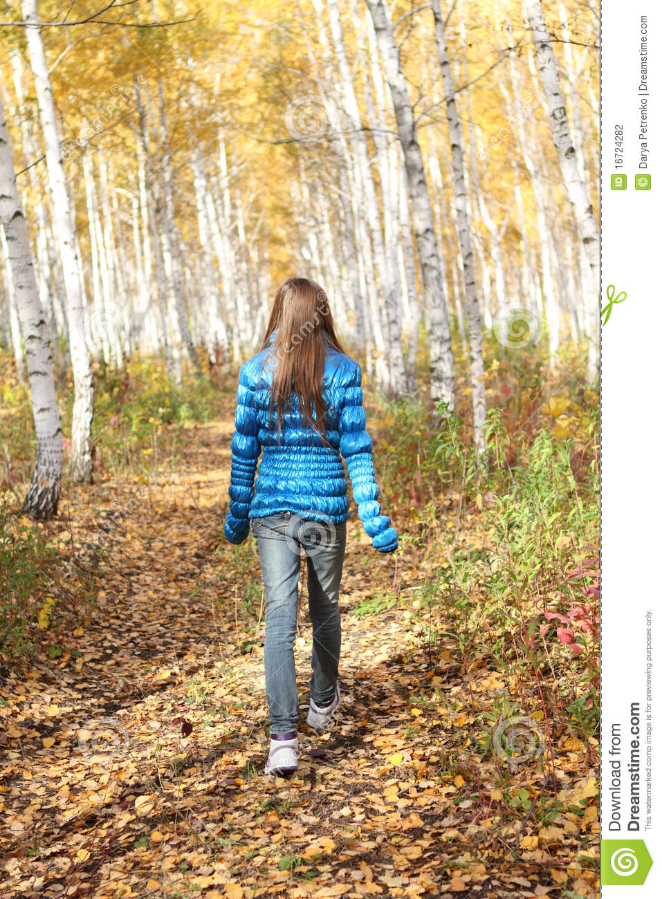 Lonely Teenage Girl In The Autumn Stock Photo Image Of