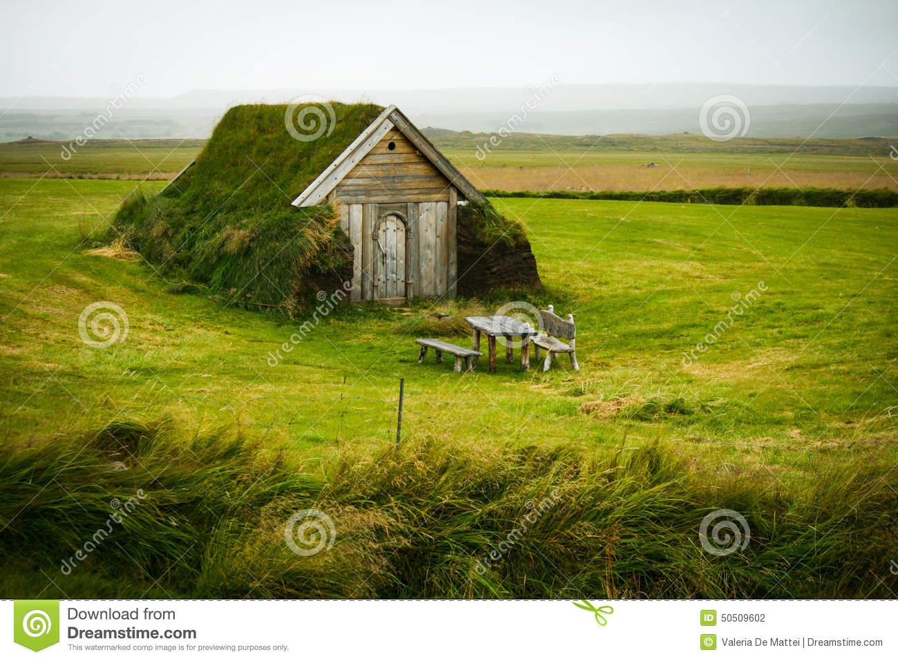 Lonely turf house stock photo image 50509602 for Iceland lonely house