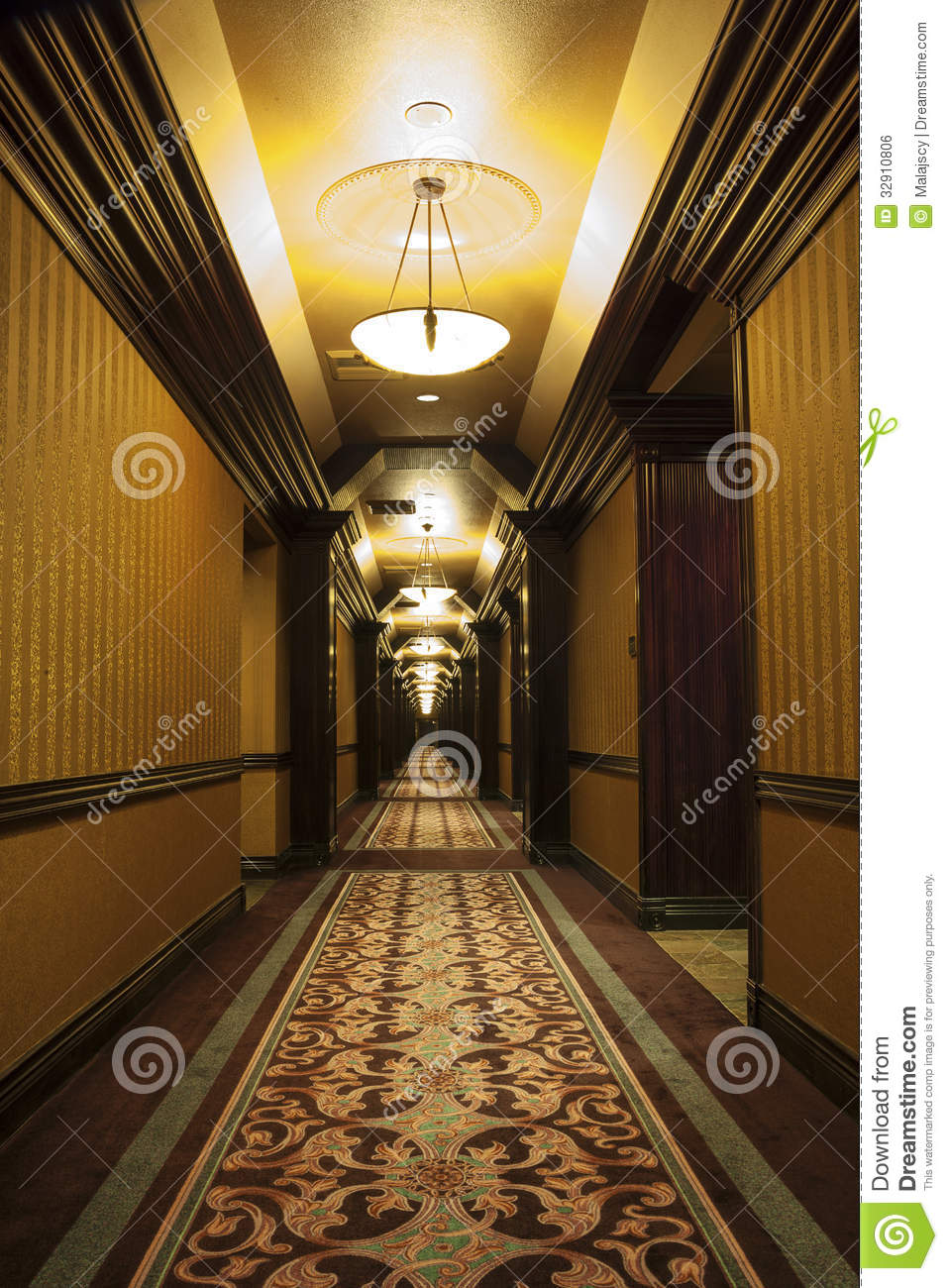 long art deco corridor royalty free stock image image 32910806