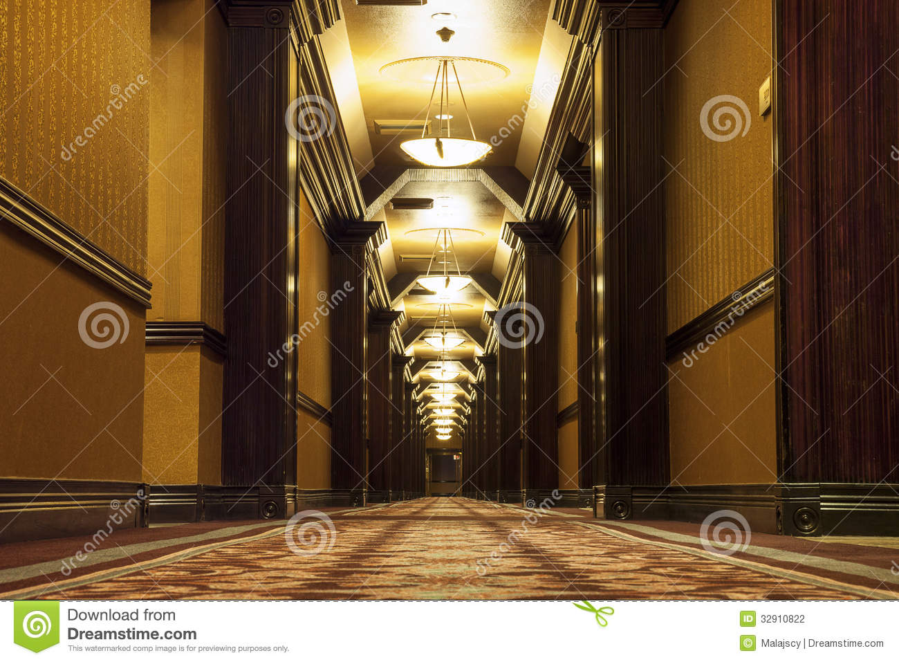Long art deco corridor stock photo image of past entrance 32910822 - Deco corridor schilderij ...