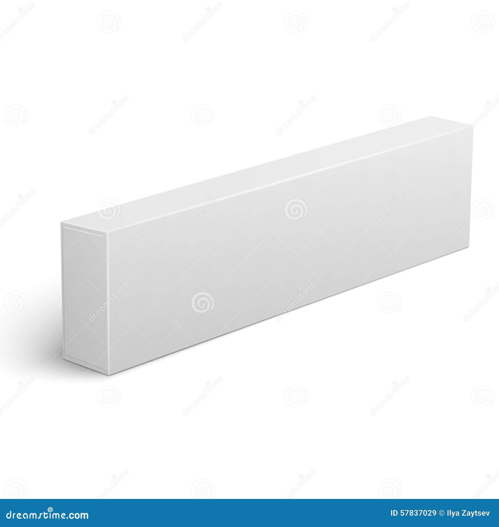 long blank cardboard box template stock vector image 57837029