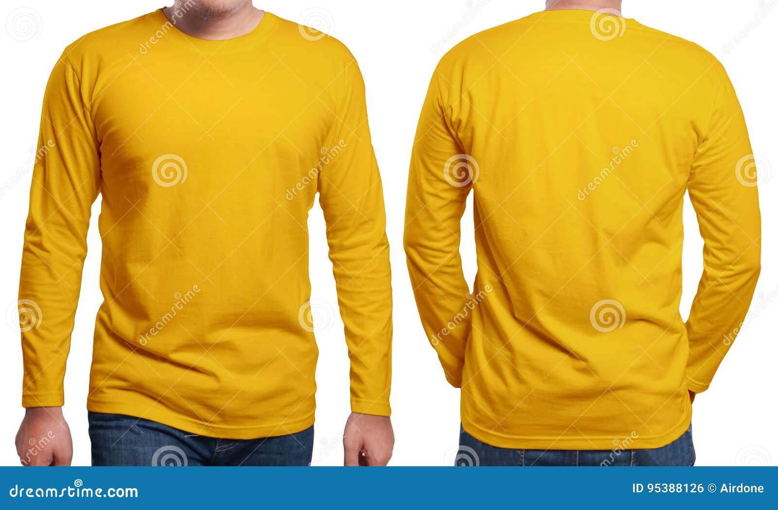 Long calibre gainé orange de conception de chemise