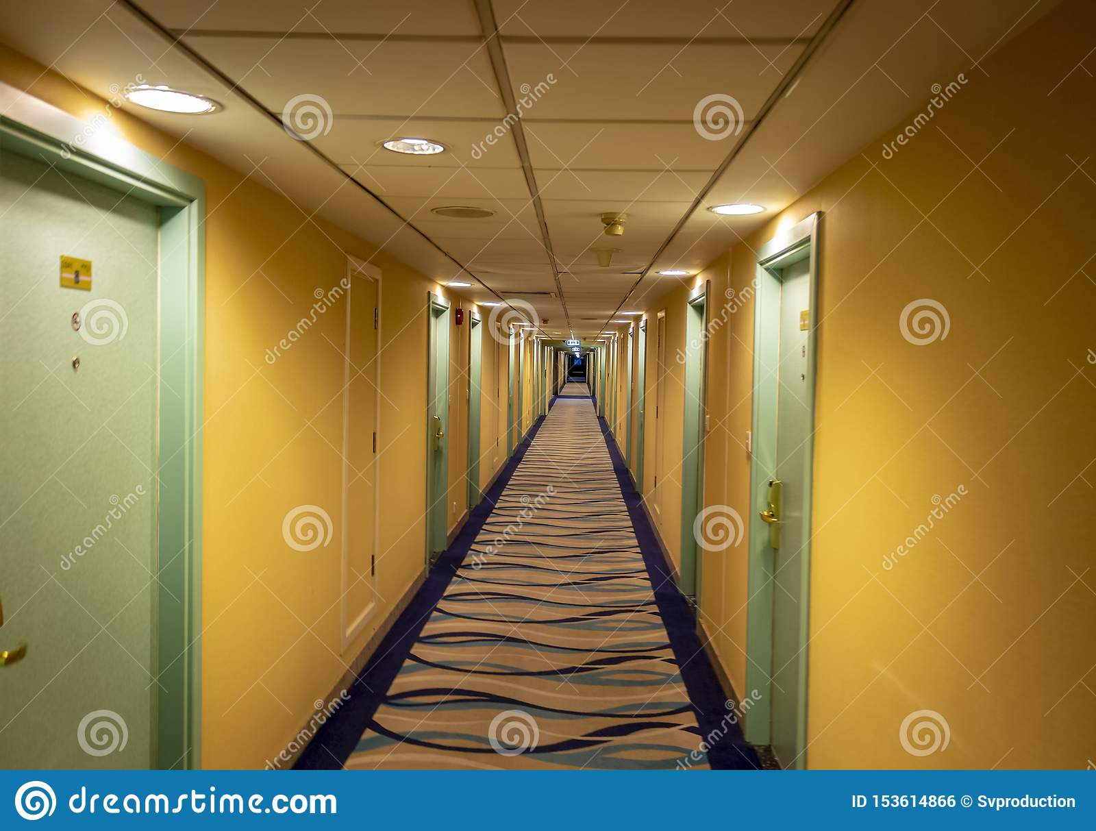 Long corridor of the hotel