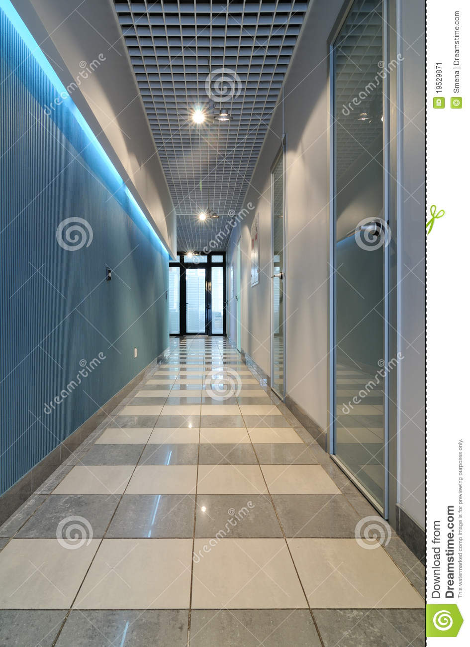 Long Corridor In Office Stock Image Image 19529871