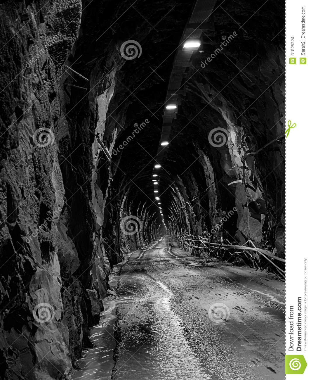 Long dark tunnel black and white stock images image for Silverleaf com