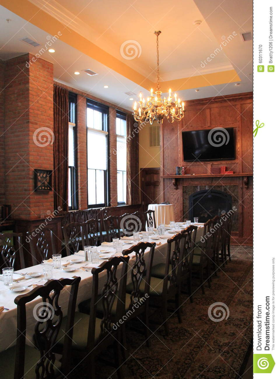 Long Dark Wood Table And Chairs In Dining Room Set For Party Harvey S Restaurant BarSaratoga2015