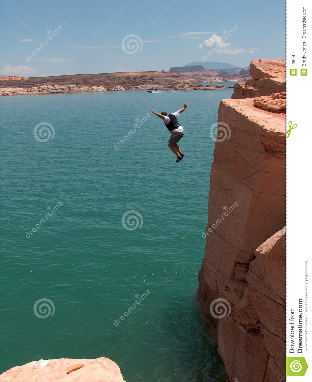 Download The Long Fall stock image. Image of falling, water, rock - 226049