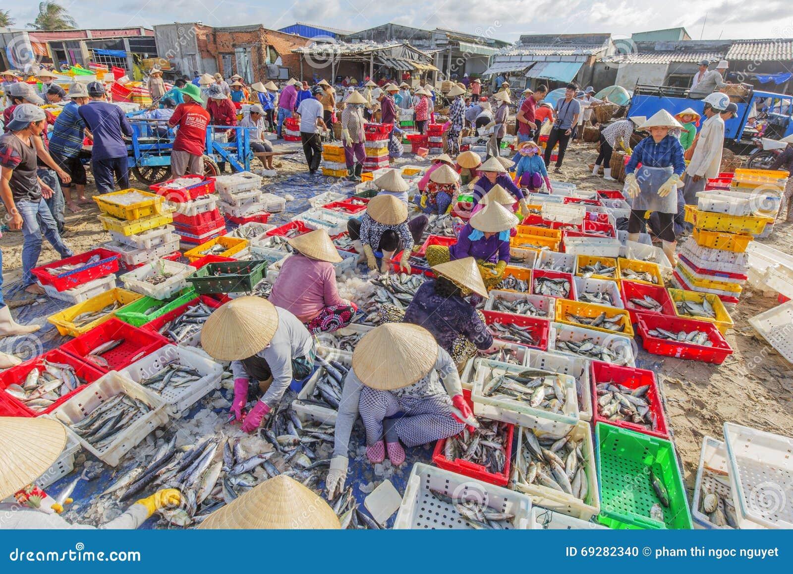 Long hai beach fish market editorial image image 69282340 for Closest fish market