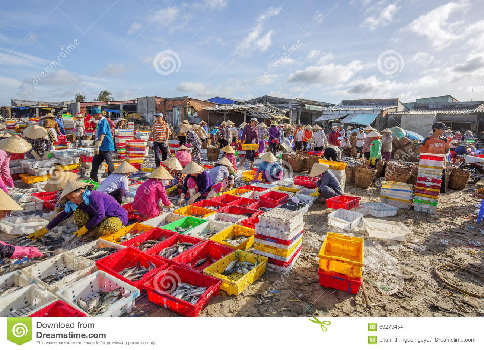 Long hai fish market editorial stock image image 69279454 for Closest fish market