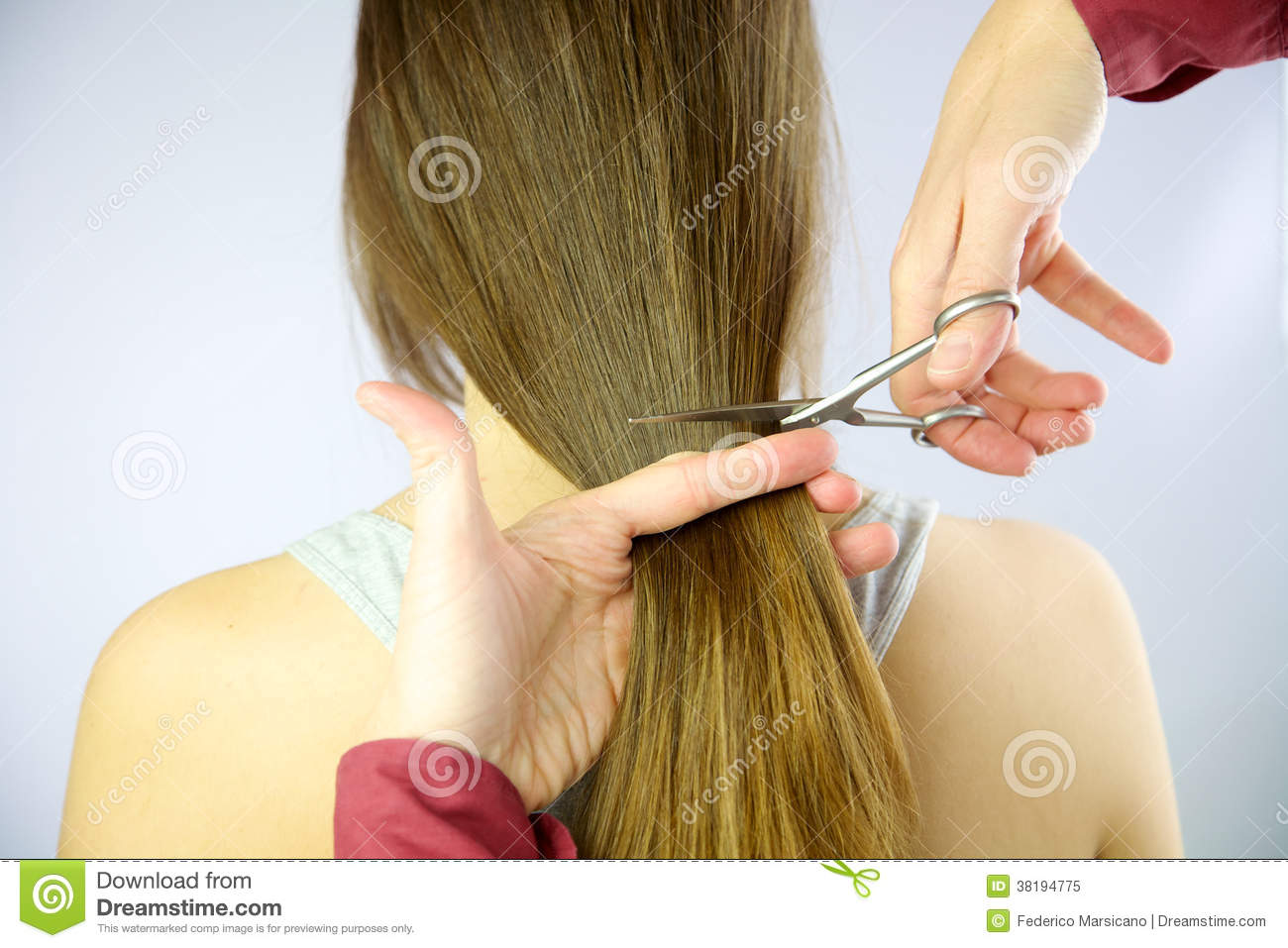 beautiful hair cutting style hair being cut with scissors royalty free stock photo 8695