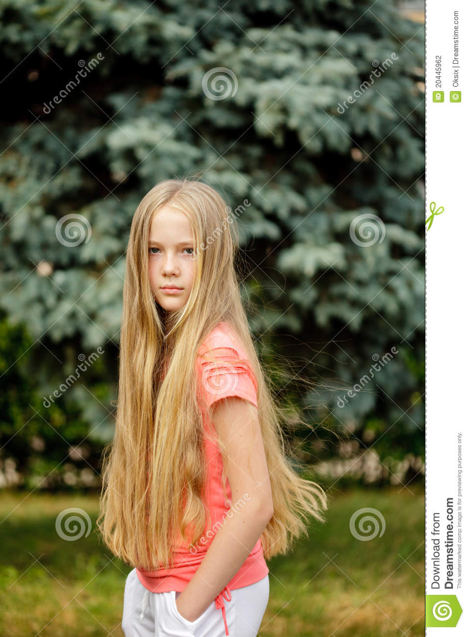 Long Hair Blonde Girl Stock Photography Image 20445962