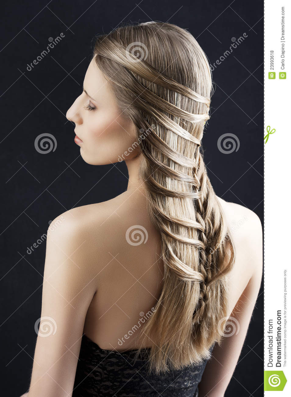Long Hair And Fashion Hairstyle Stock Photo Image Of Healthy