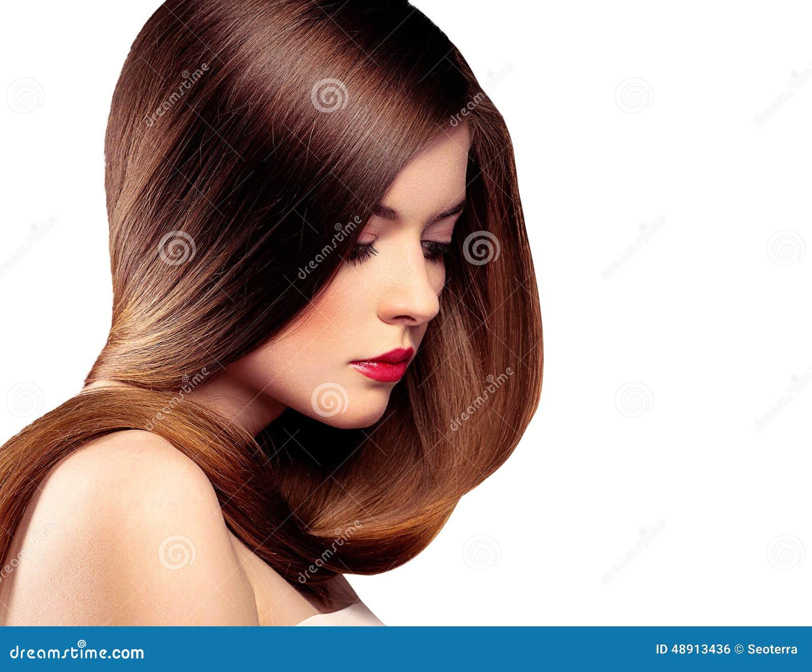 Long Hair Model Stock Photo Image 48913436