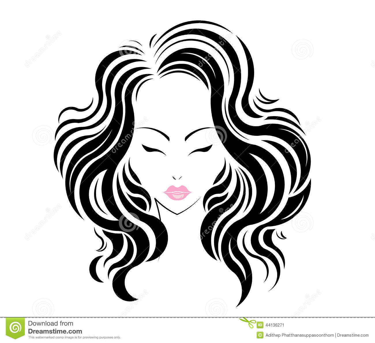 modern hair salon logo stock vector illustration of abstract 48709967