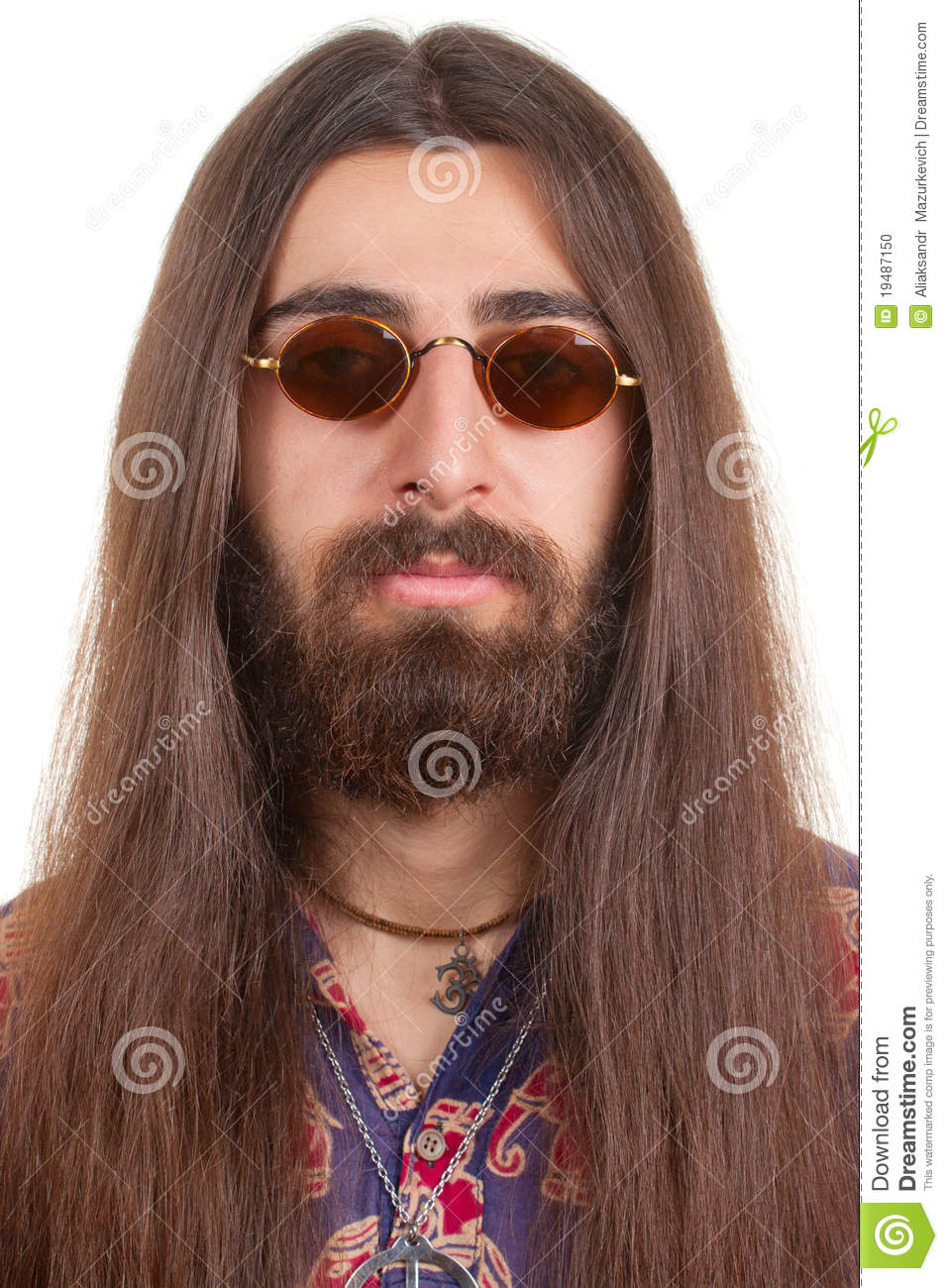 Long-haired Hippie Man Stock Photo - Image: 19487150
