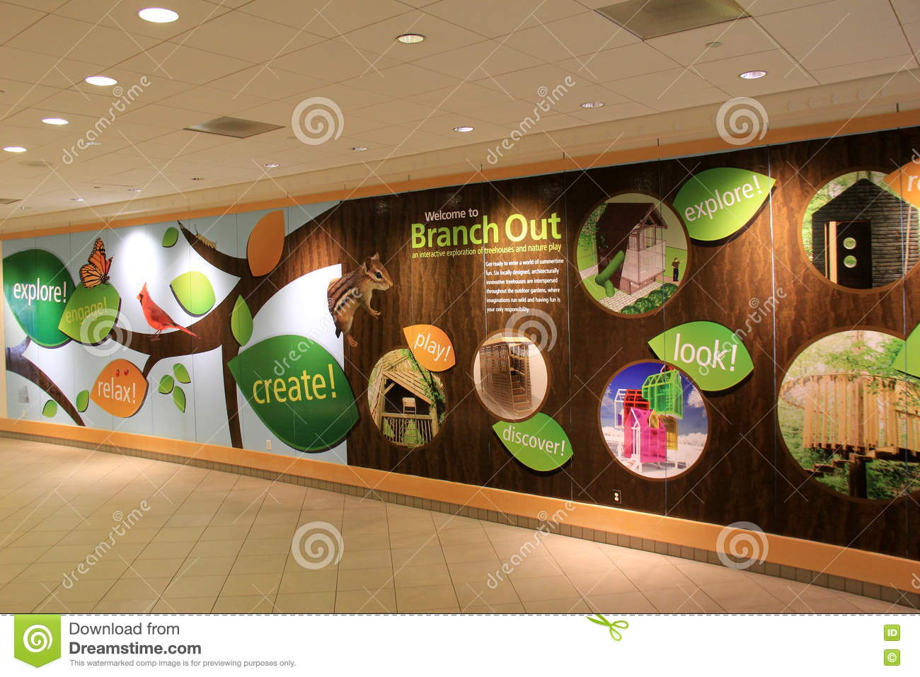 Long Hallway Advertising Program \'branch Out\' Cleveland Botanical ...
