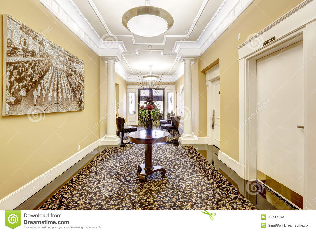 Long Foyer Xl : Long hallway in luxury residential building tacoma wa