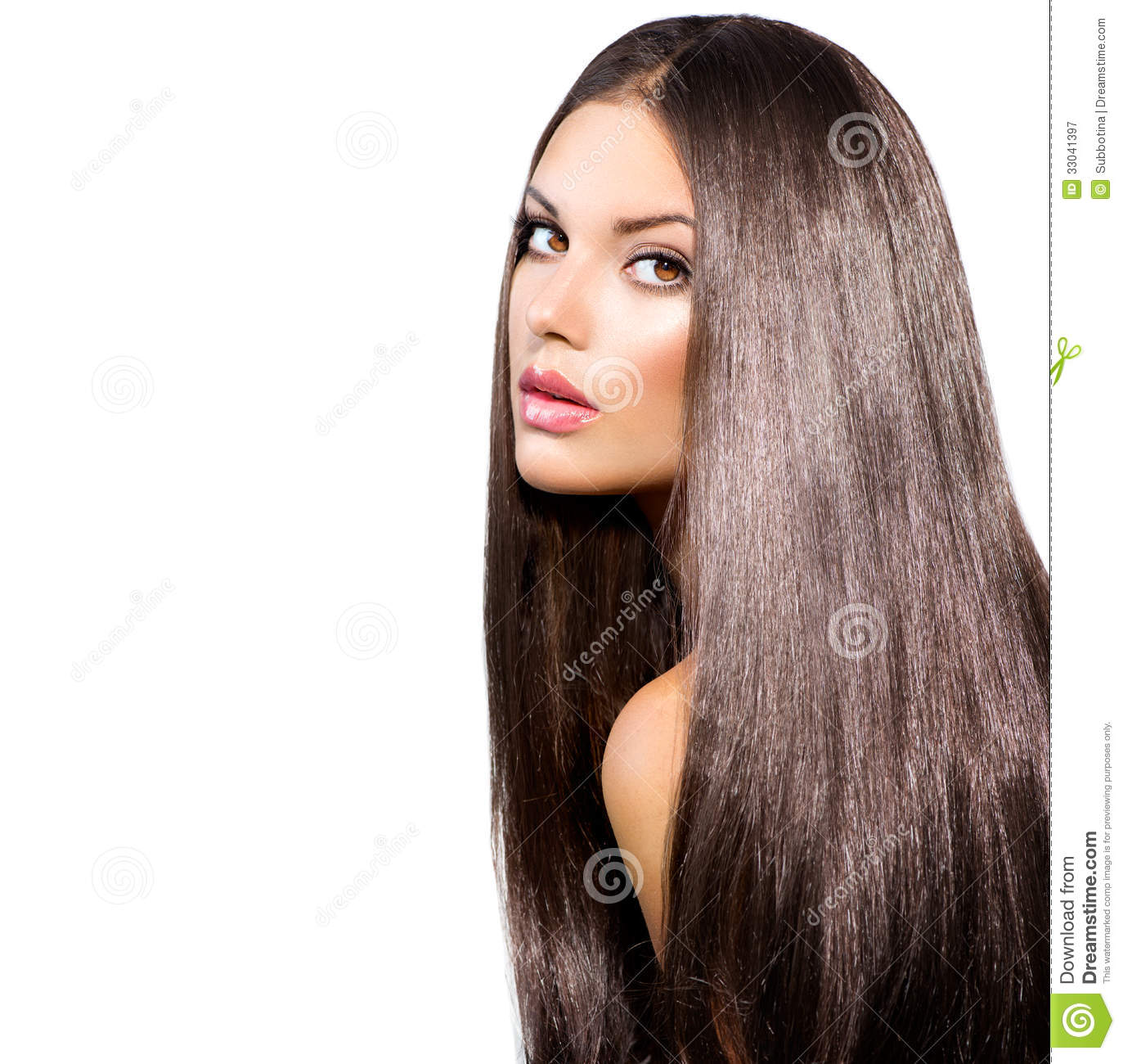 Long Healthy Straight Hair Stock Image Image Of Luxury