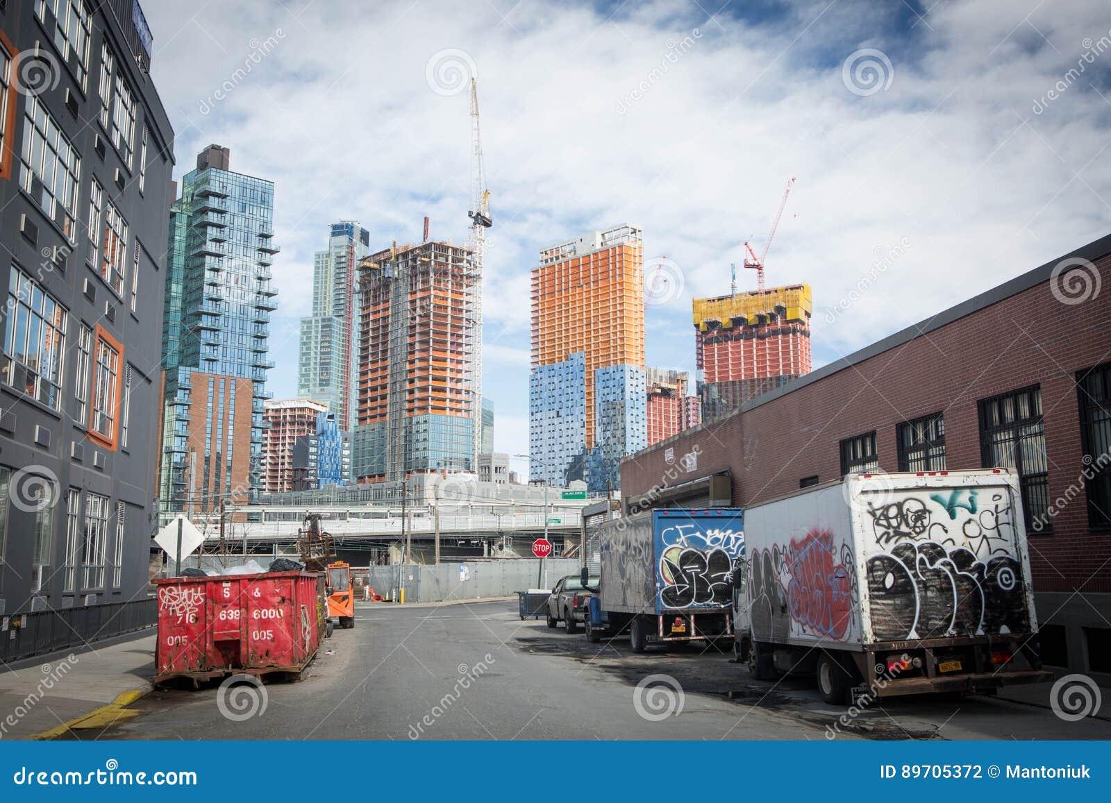 Long Island City Construction Editorial Photography