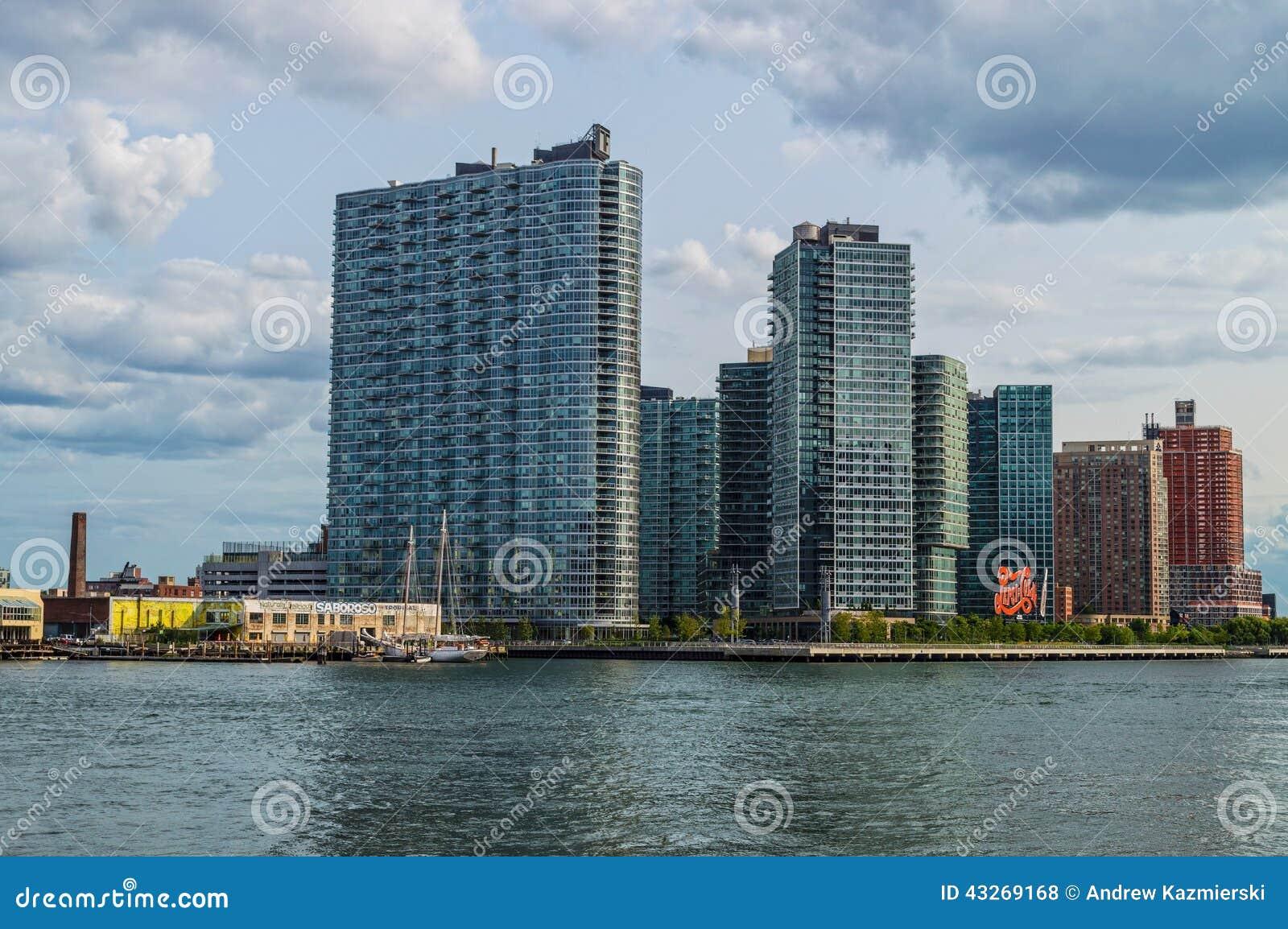 Long Island City High Rises Editorial Stock Photo