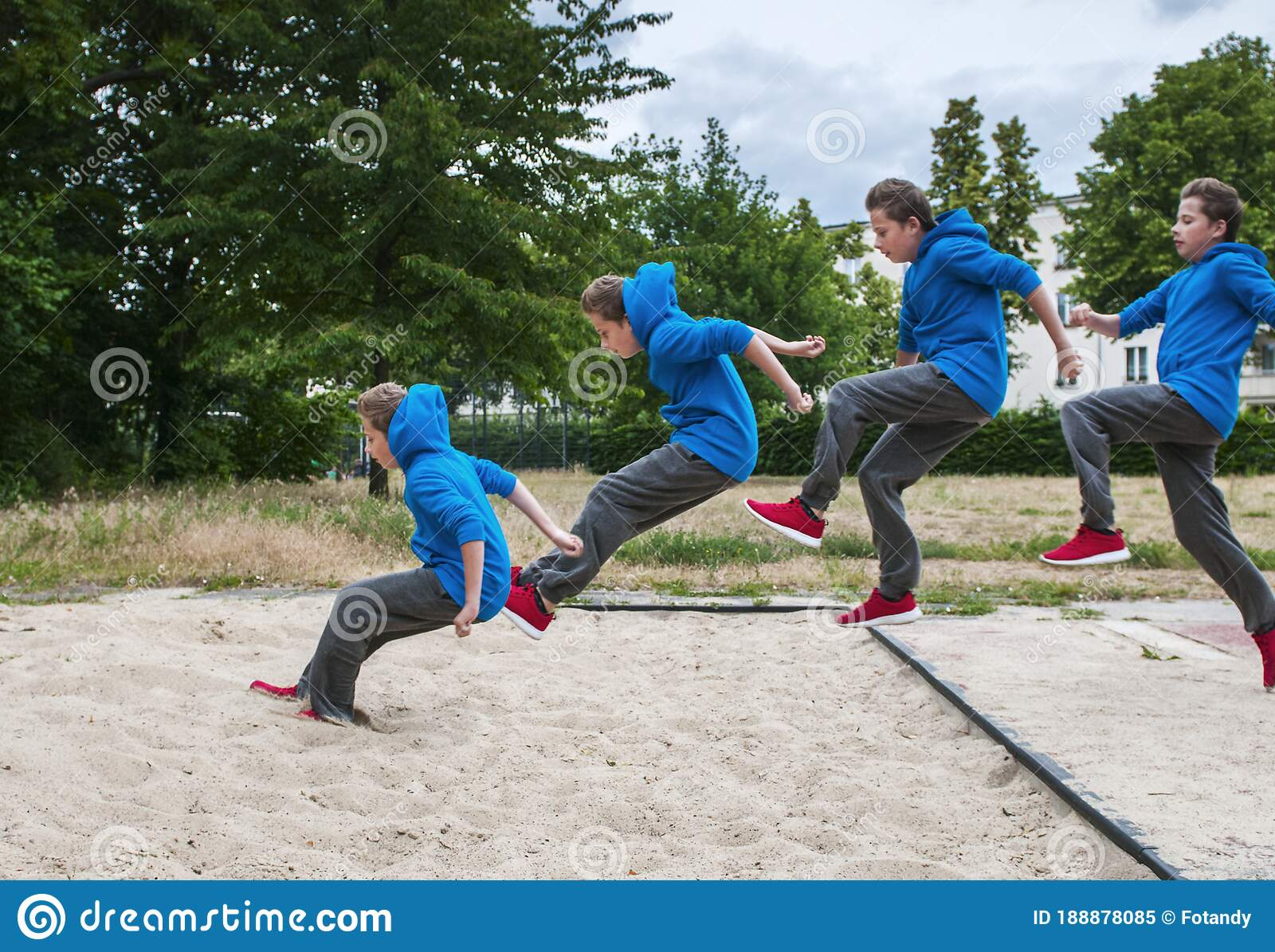 Long Jump Sequence 1 Outdoor Stock Image - Image of ...