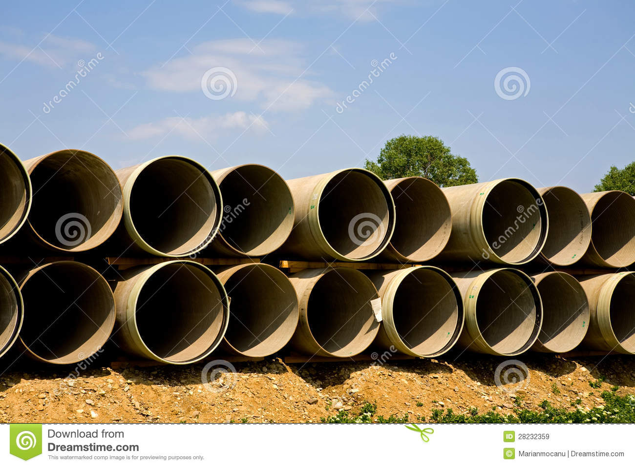 Long large pipes