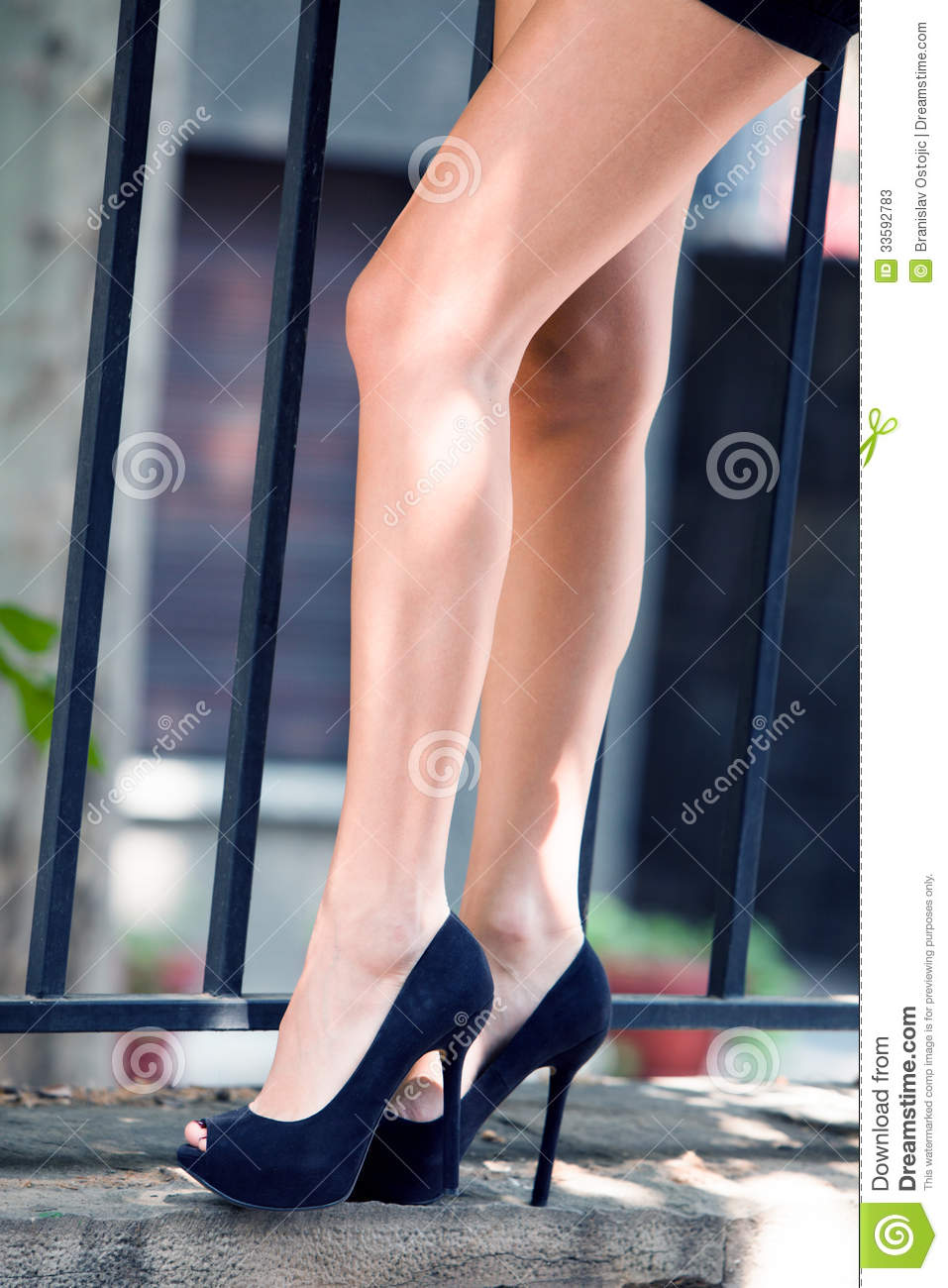 Long Legs In High Heels Stock Photos