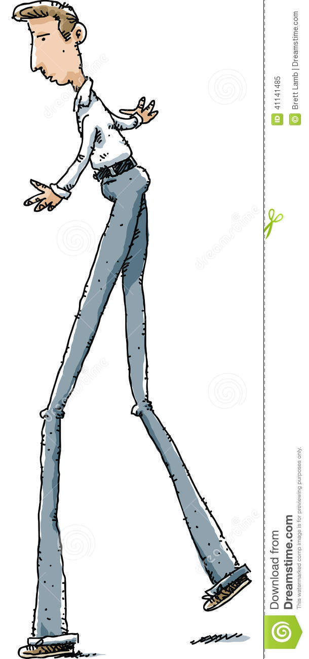 Long Legs Man Stock Illustration - Image: 41141485