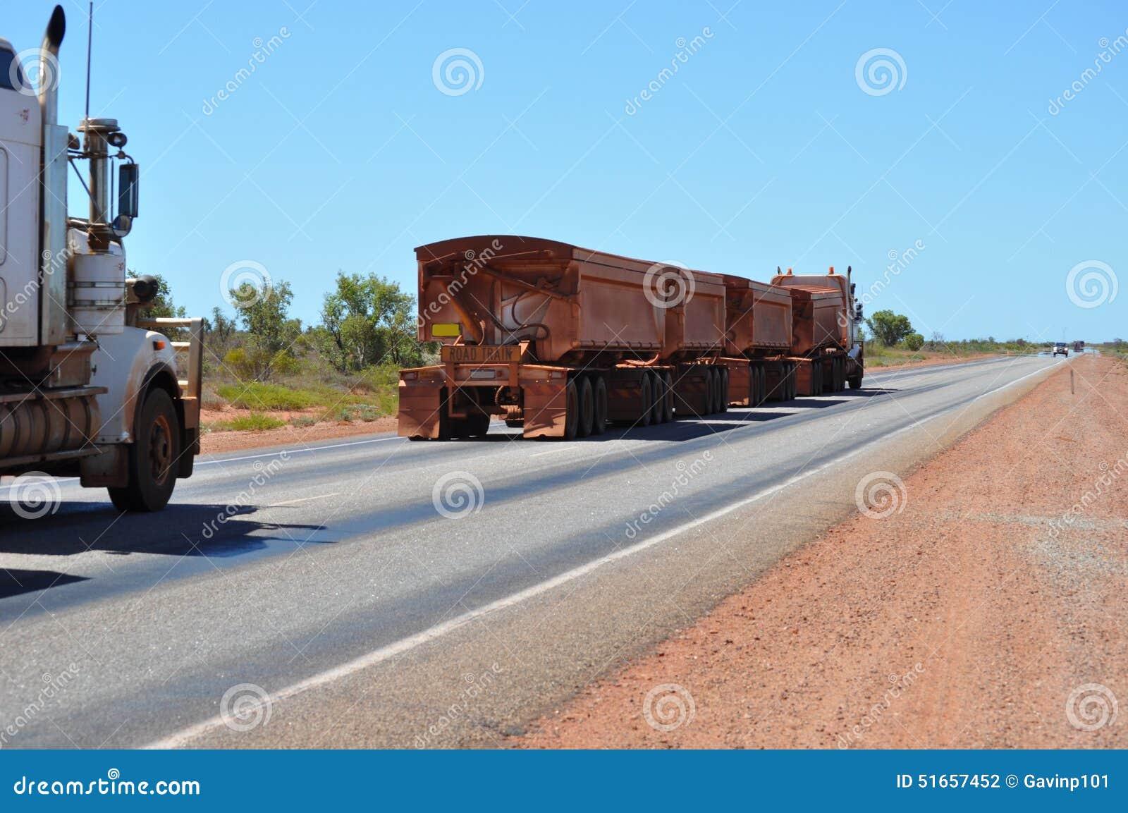 long roadtrain truck in australia stock photo image of tires trailers 51657452. Black Bedroom Furniture Sets. Home Design Ideas