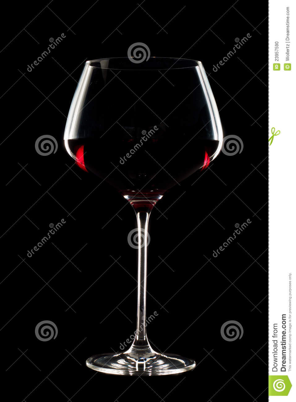 Long Stem Wine Glass Stock Photo Image 23957590